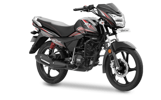 TVS Victor Balanced Black Red